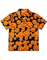 Pizoff(ピゾフ) アロハシャツ メンズ 半袖 オープンカラーシャツ 柄プリント 通気速乾 軽量 花柄シャツ