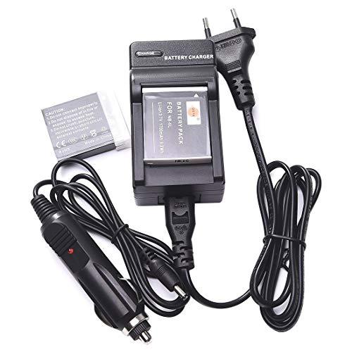 DSTE 2-Pieza Repuesto Batería y DC23E Viaje Cargador Kit para Canon NB-6L NB-6LH PowerShot SX170 IS SX240 SX260 SX270 SX280 SX500 SX510 SX600 HS IXY 110 ISIXY 25 IS IXUS 85 IS IXUS 95 IS