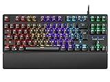Mars Gaming MKXTKL, teclado mecánico switch azul, LED 5 colores 10 efectos, PT