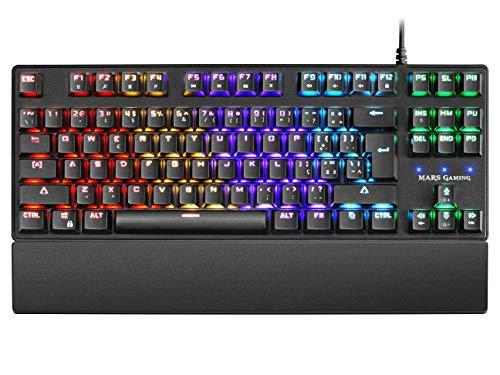 Mars Gaming MKXTKLmechanischer Tastaturschalter rotLED 5 Farben 10 EffektePT