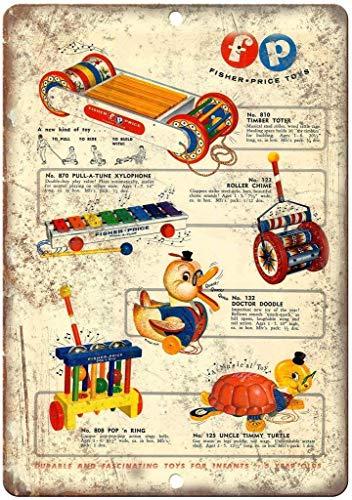 DiPLA Fisher Price Toys Madera Diversión Y Único Vintage Decorativa Pintura Colgando...