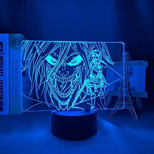 tian tian baby 3D Lampe Anime Attack auf Titan Levi Ackerman LED Nachtlicht Fernbedienung 16 Farben Tischlampe Kinder Schlafzimmer Outfit