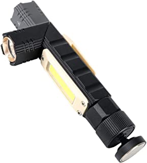 Flashlight, WIILII Tactical Flashlight, Led Flashlights High Lumens, 90 Degree COB Work Light, Rechargeable Headlamp 5 Mod...