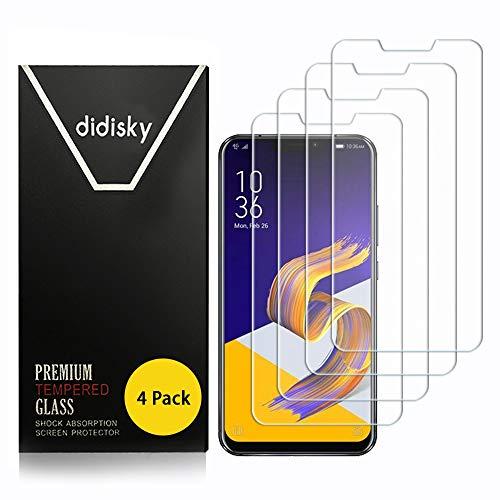 Didisky Pellicola Protettiva in Vetro Temperato per ASUS Zenfone 5 ZE620KL 6.2'' / ASUS Zenfone 5Z ZS620KL 6.2'',[4 Pezzi] [Tocco Morbido ] Facile da Pulire, Facile da installare, Trasparente