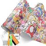 Free Tool Kit Mao JDM Bomber Anime Graffiti Cartoon Car Auto Laptop Vinyl Wrap Sticker Decal Film Sheet (3FT x 5FT)