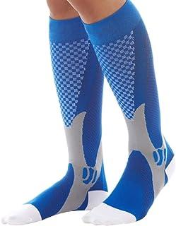 AZr, Calcetines de compresión, Medias, Fútbol Largo Tubo Muslo Vena Varices Calcetines Unisex para Correr, Vuelo, Deportes, Viajes