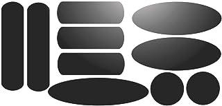 Kit de 10 stickers adhésifs réfléchissants pour signalisation sur casque Noir Réfléchissant