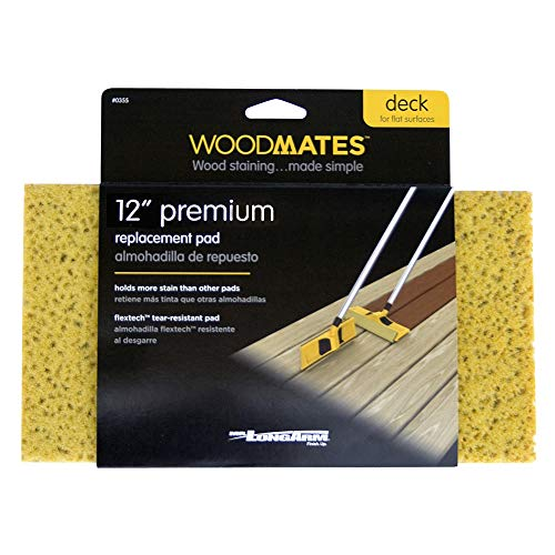Mr. Long Arm 0355 Woodmates 12-Inch Premium Stain Applicator Replacement Pad