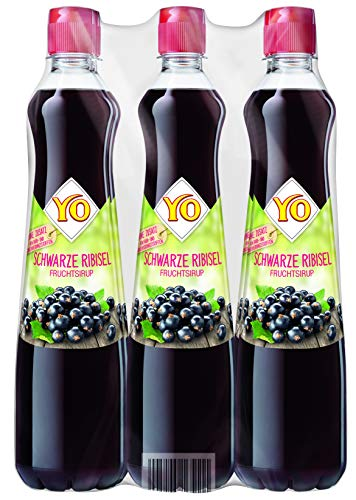 Yo Sirup Schwarze Ribisel, 6er Pack, PET (6 x 700 ml)