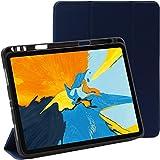 ebestStar - Funda Compatible con iPad Pro 11 Carcasa Cuero PU y Silicona, Smart Cover Función de Soporte, Reposo Automático, Azul Oscuro [Aparato: 247.6 x 178.5 x 5.9mm, 11'']