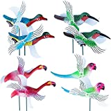 Wind Spinners Pinwheels Whirlygigs Hummingbird Lawn Garden Stakes Bird Decorations Cardinal Outdoor Decorative Yard Decor Patio Accessories Windmills Ornaments Plastic Art Christmas Whimsical Gifts