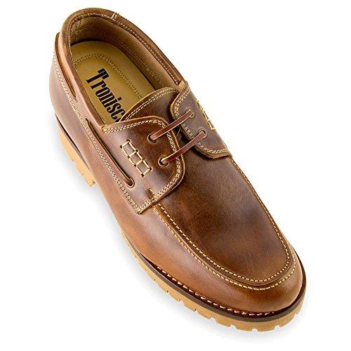 Masaltos Schuhe Herrenschuhe Die auf Unsichtbare Weise Ihre Körpergrösse bis zu 7 cm Erhöhen. Herrenschuhe mit Verstecktem Absatz. Modell Adriatico Braun 42