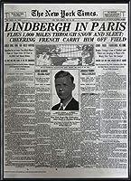 ポスター ピーター リンドバーグ VISIONAIRE(ヴィジョネアー)チャールズ・リンドバーグ NYタイムズ1927年5月22日 額装品 アルミ製ハイグレードフレーム(ブラック)
