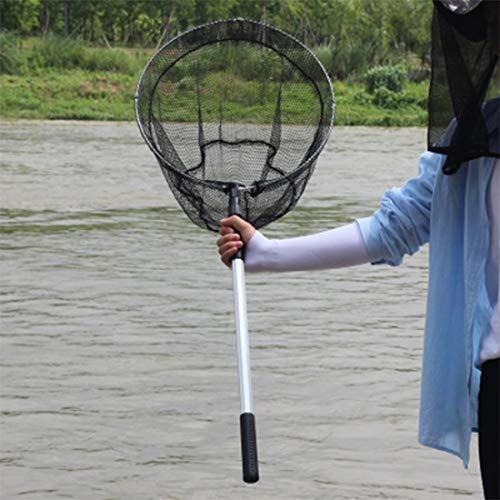 Tuzi QiuGe Fischernetz Teleskop faltbaren zusammenlegbaren Teleskopfischernetz for Vogel- und Fischfang Freisetzung leichte tragbare Aluminiumlegierung