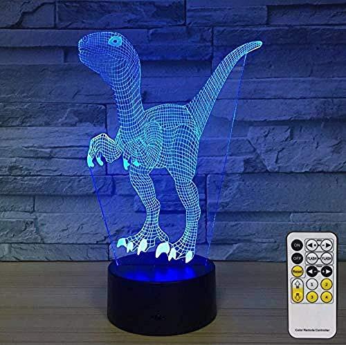 3D Slideshow nachtlampje dinosaurus nachtlampje voor kinderen decoratie 7 kleurvarianten met nachtlampje voor baby's naast de lampjes verjaardagsfeest cadeaus voor kinderen