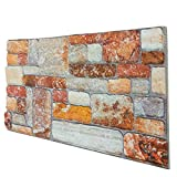Pannello Finta pietra Ricostruito in Polistirolo Misure 100 cm X 50 cm Spessore 2 cm