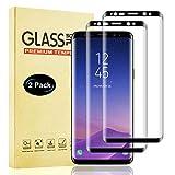 Lixuve Protector Pantalla de Vidrio Templado Samsung Galaxy S8, Anti-Rasguños, Sin Burbujas, Fácil Instalación Cristal Templado, Cobertura Completa Película Protectora para Samsung S8, 2 Unidades