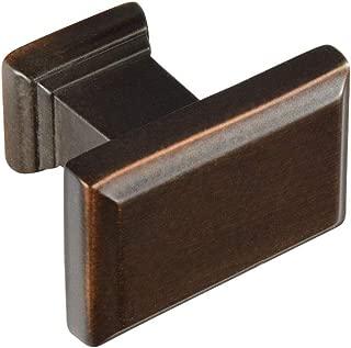allen + roth 1-1/2 in. (38mm) Gladden Rectangular Knob, Aged Bronze - 10 Pack