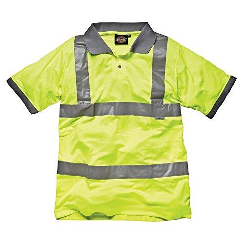 Polo de sécurité haute visibilité Dickies pour homme (L) (Jaune Haute Visibilité)
