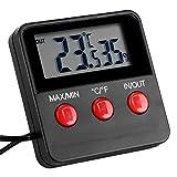 Delaman Termómetro de habitación LCD Digital Termómetro Higrómetro Temperatura Humedad...