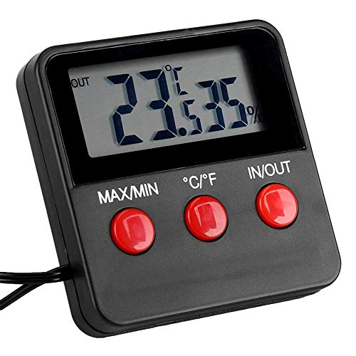 Delaman Termómetro de habitación LCD Digital Termómetro Higrómetro Temperatura Humedad Medidor Monitor para Incubadora de Huevos Mascota Mantener