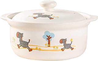 Olla LINGZHIGAN Cazuela Cocina Cerámica Esmalte Color Caricatura Arcilla Arroz Hogar Gas Caldo Caldo Sopa Avena A Alta Temperatura Sopa