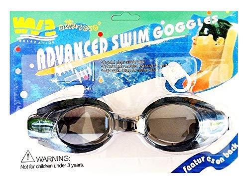 Inception Pro Infinite Occhiali da Nuoto per Adulti E Bambini con Tappi per Naso E Orecchie - Colore Nero