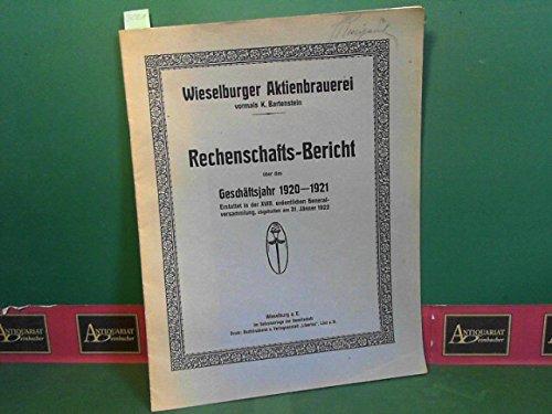 Rechenschaftsbericht über das Geschäftsjahr 1920/21. Erstattet in der XVIII. ordentlichen Generalversammlung, abgehalten am 31.Jänner 1922.