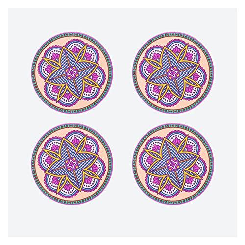 Posavasos 6.5 pulgadas Color retro chino Costero engrosado de 4 piezas La estera antideslizante se puede usar como decoración de la mesa y exquisito estera para el plato de regalo Drinks Coasters