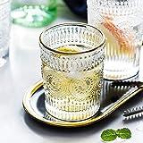 Bicchieri retrò per matrimonio Piebald Phnom Penh alzato vetro casa tavolo da pranzo tè tazza colazione latte succo per tazza d'acqua (capacità: 301 400ml, colore: diamante 350ml)