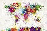 Close Up Michael Tompsett World Map Drop Paint - XXL