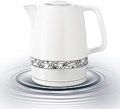 Elektrische Keramische Draadloze Witte Waterkoker Theepot - Retro 1,7 L Kan, 1850W Kookt Water Snel Voor Thee, Koffie, Soe...