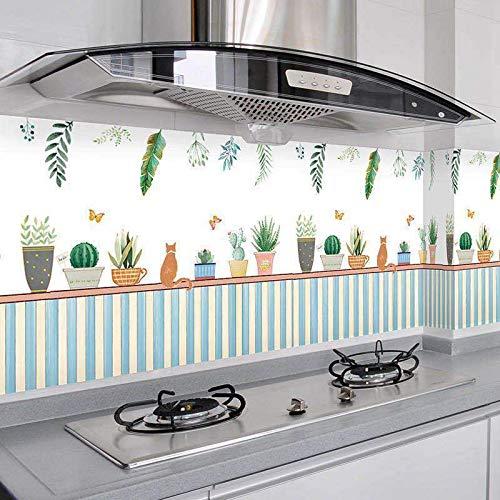 LZYMLG 3D Self-Adhesive Three-Dimensional Imitation Tile Lattice Wallpaper Kitchen Sticker Waterproof And Oil-Proof Toilet Bathroom Cabinet Wallpaper RR 60CM*5M