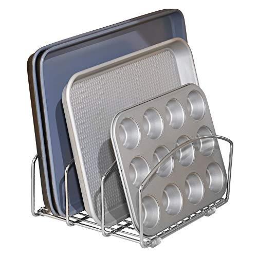 mDesign scolapiatti in metallo – ottimo scolapiatti da appoggio per ogni lavello – scolapiatti da lavello pratico resistente e durevole nel tempo