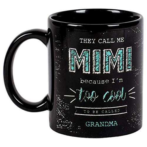 N\A Me Llaman Mimi Taza de café de cerámica con Aspecto de Pizarra