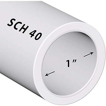 PVC Pipe Sch. 40 1 Inch (1.0) White/PVC / 2 FT