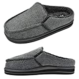 jiajiale Zapatillas de Espuma Viscoelástica para Hombre Zapatillas de casa de Banda Elástica Flexible Cálidas de Invierno con Soporte de Arco de Espuma de Yoga Gruesa para Interiores/Exteriores