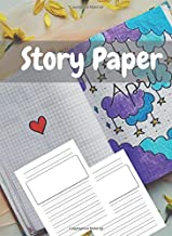 Story Paper: A Draw and Write Notebook with Picture Space and Primary Writing Lines, Kindergarten through Third Grade, 120 Pages, 8.5 x 26