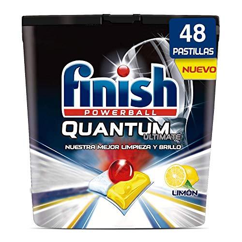 Finish Powerball Quantum Ultimate, pastillas para el lavavajillas, limón - 48 unidades