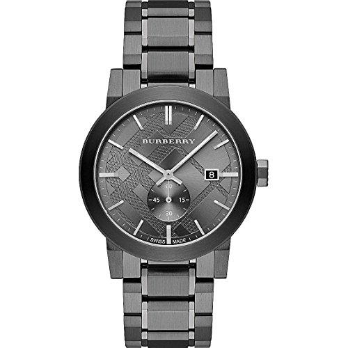 Burberry Men's City BU9902 Grey Stainless-Steel Swiss Quartz Watch with Grey Dial