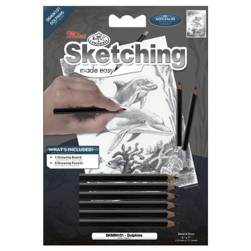 """Mini Sketching Made Easy Kit 5""""X7""""-Dolphins [Kitchen]"""