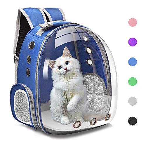 Henkelion Cat Backpack Carrier Bubble Carrying Bag, Small Dog Backpack Carrier for Small Medium Dogs Cats, Space Capsule Pet Carrier Dog Hiking...