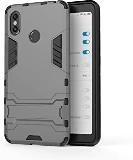 Xiaomi Mi Max 3 Case, Hybrid Armor Case [2 in 1] Lightweight Hard PC Cover + Flexible TPU Shock Absorption & Scratch Resistant with Kickstand for Xiaomi Mi Max 3 (2018) 6.9 inches - Gray