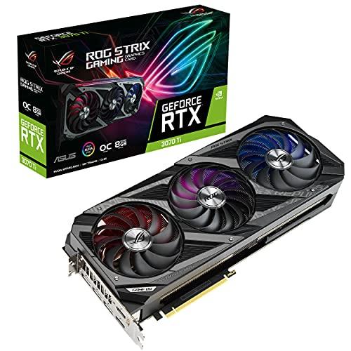 ASUS ROG Strix NVIDIA GeForce RTX 3070 Ti OC Edition Gaming Graphics Card (PCIe 4.0, 8GB GDDR6X, HDMI 2.1, DisplayPort 1.4a, Axial-tech Fan Design, 2.9-Slot, Super Alloy Power II, GPU Tweak II)