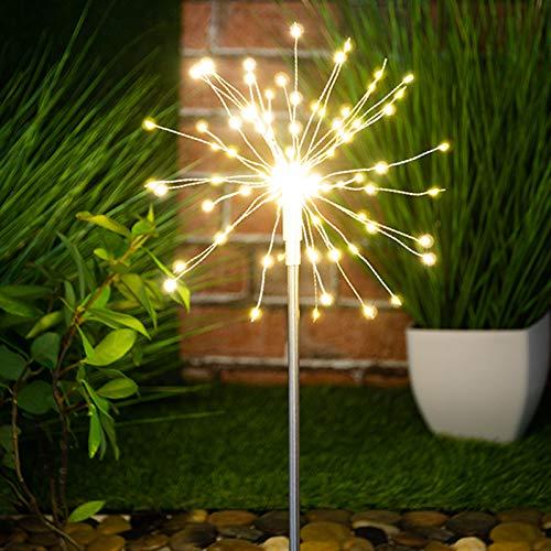 Globrite 120 LED Solar Powered Firework Starburst Garden Outdoor Stake...