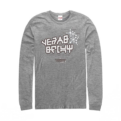 Marvel Men's Guardians of Galaxy Vol. 2 Star-Lord Tee Athletic Heather Long Sleeve T-Shirt