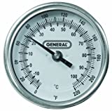 General Tools T300-36 Analog Soil Thermometer, Long Stem 36 Inch Probe, 0° to 220° Fahrenheit (-18° to 104° Celsius) Range, Ideal for Taking Ground and Soil Temperature for Composting, Gardening and A