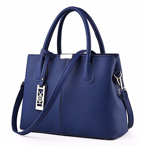 xylnnbb Señora Bolsa de Hombro Bolso de Mano con un Nuevo,Azul