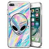 Alien iPhone 7 Plus 8 Plus Case Customized Design Anti-Scratch Flexible Shock Absorption Soft TPU Protective Phone Case For iPhone 7 Plus 8 Plus-Clear