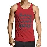 lepni.me Camisetas de Tirantes para Hombre Citas de motivación para la Vida - Vintage Inspirado Refranes Divertidos (X-Large Rojo Multicolor)